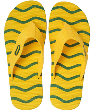 Sparx SFG-2009 Green Yellow Slipper  SFG-2009-GRN-YLW