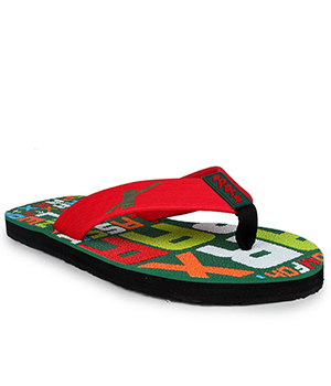 Sparx SFG-2017 Green Red Slipper  SFG-2017-GRN-RED