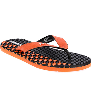 Sparx SFG-2042 Black Orange Slipper  SFG-2042-BLK-ORG
