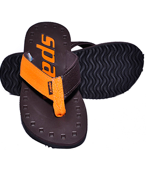 Sparx SFG-44 Brown Orange Slipper  SFG-44-BRW-ORG