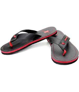 Sparx SFG-527 Black Red Slipper  SFG-527-BLK-RED