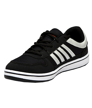 Sparx Black Silver Mens Casual Shoe SM-183