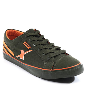 Sparx Green Orange Mens Casual Shoe SM-189