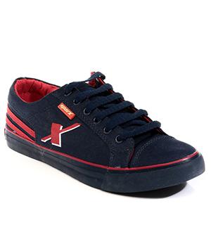 Sparx Navy Blue Red Mens Casual Shoe SM-189