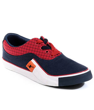Sparx Navy Blue Red Mens Casual Shoe SM-198