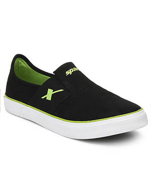 Sparx Black Green  Mens Casual Shoe SM-215