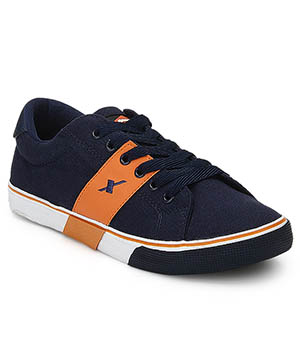 Sparx Navy Blue orange Mens Casual Shoe SM-215