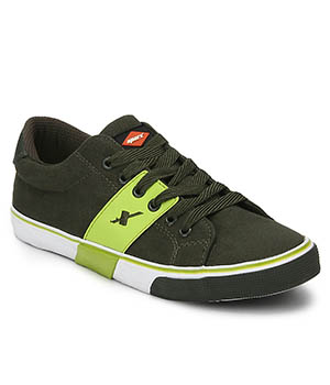 Sparx Olive Green Mens Casual Shoe SM-215