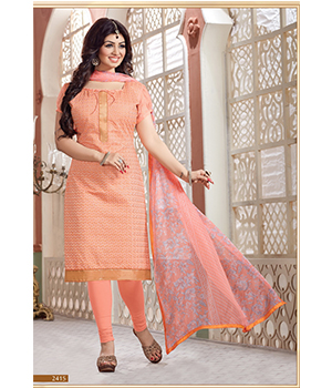 300c0c4880 Buy Shoponbit Peach Color Naturally Look Embroidered Salwar Suit | Cheer  Shopping