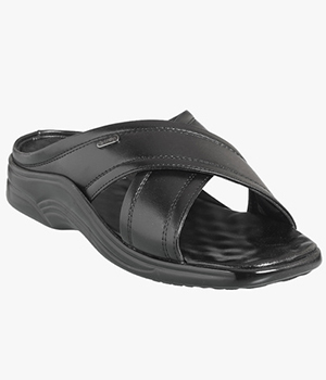 Action Dotcom Mens Formal Black Sandal DSP 8001