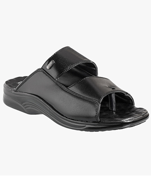 Action Dotcom Mens Formal Black Sandal DSP 8005