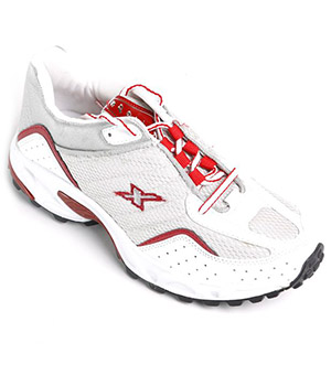 Sparx Mens Sport Shoe SM-04 Silver-Red