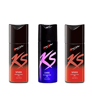 Kama Sutra Spark And Dare Mens Deodorant Body Spray Set Of 3