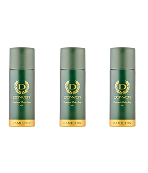 Denver Hamilton Mens Deodorant Body Spray Set Of 3