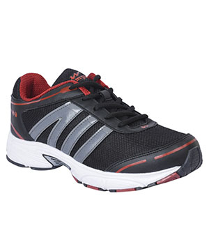 Campus 3G-410 Swiss Black Silver Rust Mens Sport Shoe