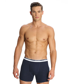 Jockey Modern Ink Blue Melange Classic Boxer Brief 8009 Set Of 2