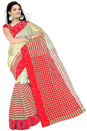 Swaraaa Red Tissue Silk Saree With Unstiched Blouse