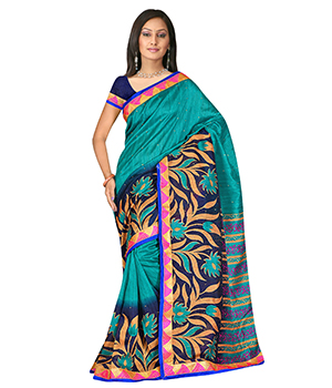 Swaraaa Green Raaga Silk Saree With Unstiched Blouse