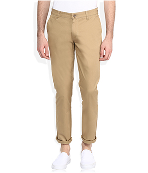John Player Mens Slim Fit Casual Trouser
