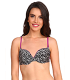 Jockey Black & Purple Wired Push-Up Bra FP45