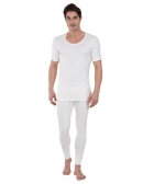 Jockey Off White Thermal Short Sleeve Vest