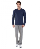 Jockey Ink Blue Melange Long Sleeved T-Shirt