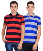 Duke Mens T-Shirt Multi Color VP98-BABEL Pack Of 2