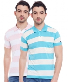 Duke Mens T-Shirt Multi Color VP98-PASTEL Pack Of 2
