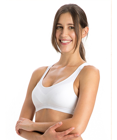 Jockey White Racer Back Padded Active Bra 1378