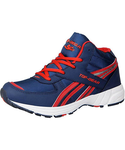 Columbus Top Gear Mens Sports Shoe TP-4 Navy Red