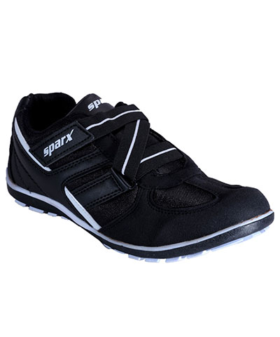 Sparx Black White Mens Sports Shoe SM-202