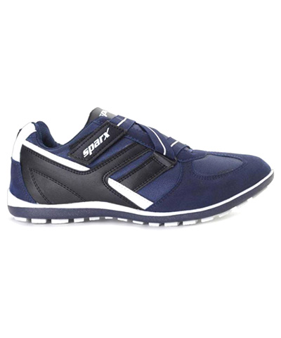 Sparx Blue White Mens Sports Shoe SM-202