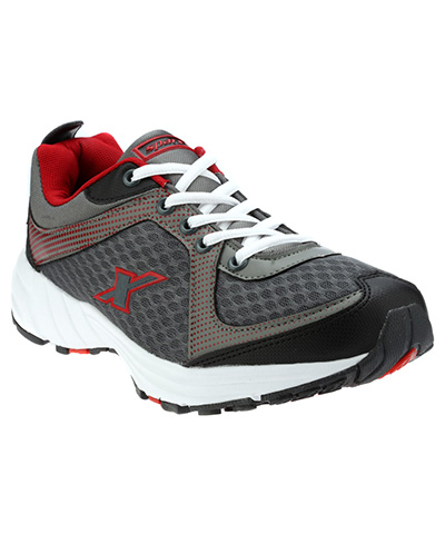 Sparx Grey Red Mens Sports Shoe SM-213