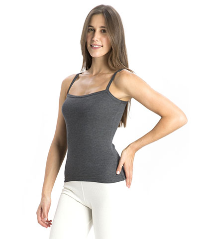 Jockey Charcoal Melange Thermal Spaghetti Top