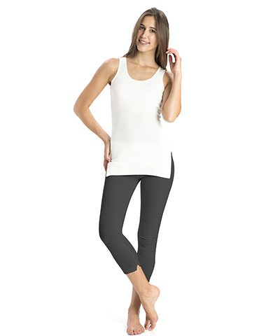Jockey Charcoal Melange Thermal Leggings