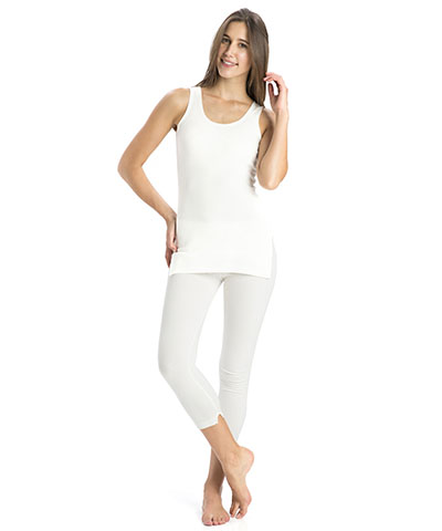 Jockey Off White Thermal Leggings