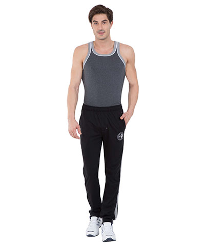 Jockey Black & Grey Melange Track Pants