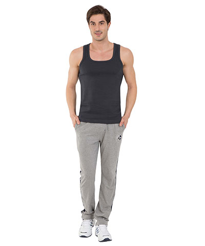 Jockey Grey Melange & Navy Track Pants