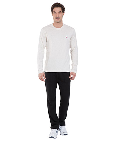 Jockey Cream Melange Long Sleeved T-Shirt