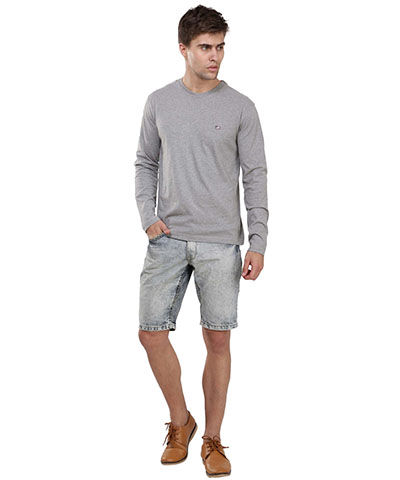 Jockey Grey Melange Long Sleeved T-Shirt