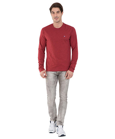 Jockey Red Melange Long Sleeved T-Shirt