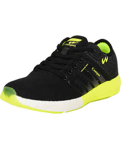 Campus Mens Sports Shoes Battel 3G-478  Black-Green