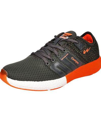 Campus Mens Sports Shoes Battel 3G-478  Grey-Orange