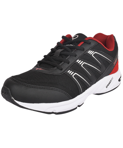 Campus Mens Sports Shoe Neon 3G-434 Black-Red
