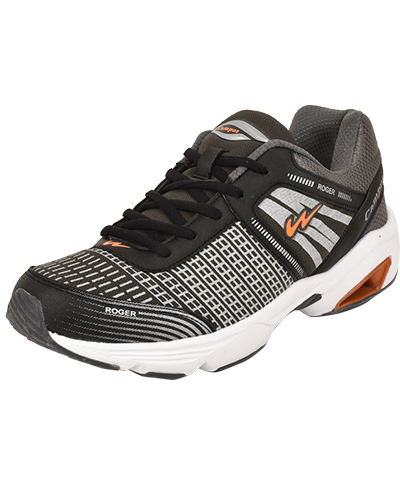 Campus Mens Sports Shoe Roger 3G-8258 Dark Grey Orange