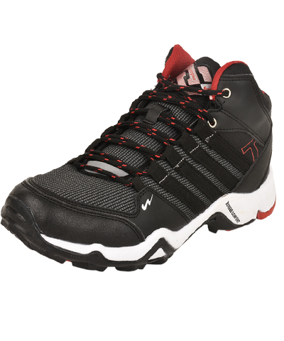 Campus Mens Sports Shoe Trek 3G-471 Black-Rust