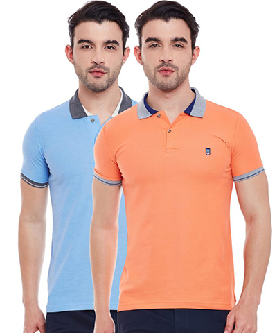 Duke Mens T-Shirt Multi Color VP67-TRAMP Pack Of 2