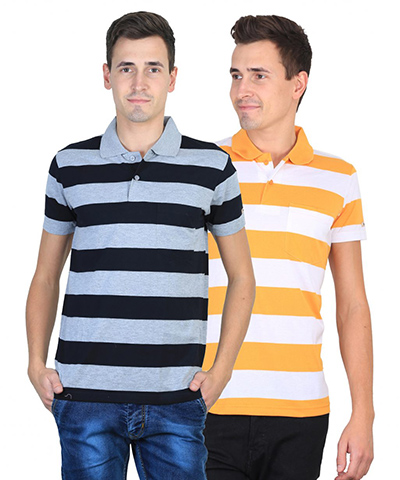 Duke Mens T-Shirt Multi Color VP98-BLADE Pack Of 2