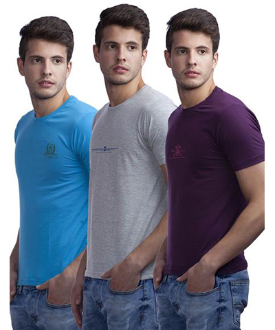 Duke Mens T-Shirt Multi Color VP50-Breeze Pack Of 3
