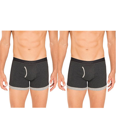 Jockey Boxer Trunk 1017 Charcoal Pack Of 2